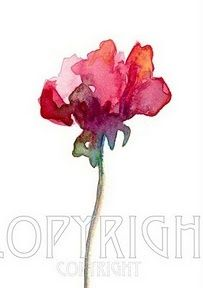 Image result for simple watercolors of sweet peas