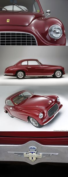 1949 Ferrari 166 Inter Touring / s/n 017S / photo credit P.E. Kamp / Italy / red