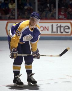 Luc Robitaille | Los Angeles Kings skates against the Montreal Canadiens in the 1990's at the Montreal Forum in Montreal Quebec...