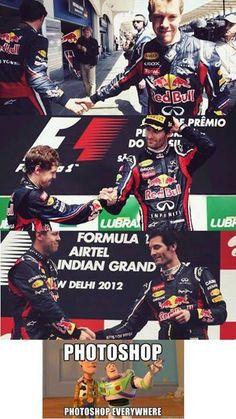 Vettel and Webber Montache