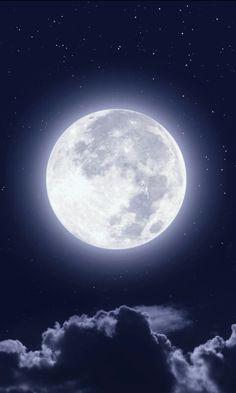 Full moon, clouds, night, sky wallpaper - Silke Hanf - Space Everything Night Sky Moon, Sun Moon, Night Skies, Night Clouds, Night Sky Stars, Moon And Stars Wallpaper, Night Sky Wallpaper, Full Moon Pictures, Full Moon Images