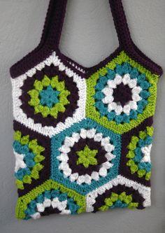 crochet hexagon market bag « photosarah crafts