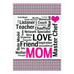 Celebrating Mom! Mother's Day or Mom's Birthday Custom Invitation