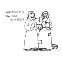 Jesus heals a blind man, make the eyes for the man