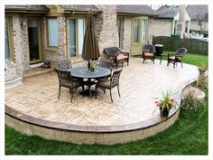 Cement Backyard Ideas concrete patio stamped Find This Pin And More On Backyard