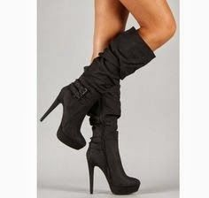 Adorable such a cute high heel black long shoes for ladies | Fashion World