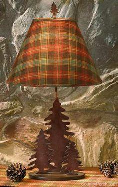 Tartan lampshade