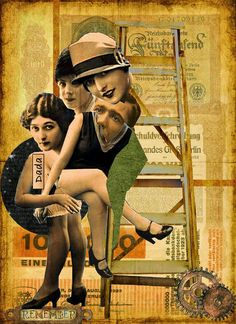 Louise Brooks image Dada style Hannah Hoch influenced art by Marie Dada Collage, Collage Artists, Mixed Media Collage, Photomontage, Hannah Hoch Collage, Hannah Höch, Collages, Raoul Hausmann, Dada Artists