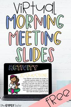 Learning Resources, Teacher Resources, Teacher Blogs, Teacher Stuff, Teaching Ideas, Morning Meeting Activities, Morning Meeting Kindergarten, Morning Meetings, Beginning Of School