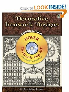 Decorative Ironwork Designs CD-ROM and Book (Dover Electronic Clip Art) by Dover. $11.83. Series - Dover Electronic Clip Art. Publisher: Dover Publications (January 23, 2004). Publication: January 23, 2004