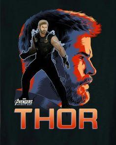 [#Cine] AVENGERS: INFINITY WAR Tenemos pósters para cada uno de los protagonista de la película #AvengersInfinityWar . #NeerksTV  #Avengers #Thor