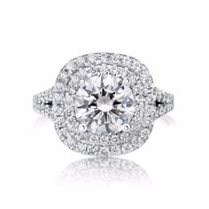 3.75 CT ROUND CUT D/SI1 DIAMOND SOLITAIRE ENGAGEMENT RING 14K WHITE GOLD
