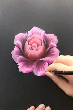 Acrylic Painting Flowers, Acrylic Art, Flower Paintings On Canvas, Paintings Of Flowers, 3d Painting On Canvas, One Stroke Painting, Painting Art, Painting Flowers Tutorial, Realistic Oil Painting