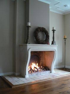 Living Nail Art corsi x nail art treviso Fireplace Decor, Home Fireplace, House Design, Grey Wall Decor, House Interior, Faux Fireplace Diy, Faux Fireplace, Classic Fireplace, Home Decor