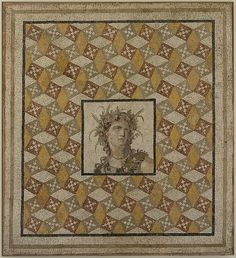 The rectangular panel represents the entire decorated area of a floor and was found together with another mosaic (now in the Baltimore Museum of Art) in an olive grove at Daphne-Harbiye in 1937. In Roman times, Daphne was a popular holiday resort, used by the wealthy citizens and residents of Antioch as a place of rest and refuge from the heat and noise of the city