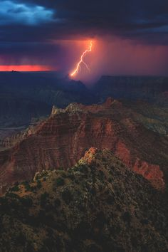 "lsleofskye: "" Lightning at the Grand Canyon """