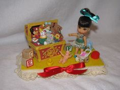 Vintage Mattel Pretty Priddle Liddle Kiddle With Toy Box Decorated Display in Dolls & Bears, Dolls, By Brand, Company, Character | eBay