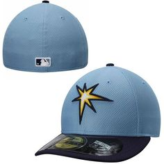 Tampa Bay Rays New Era Low Crown Diamond Era Performance 59FIFTY Fitted Hat - Light Blue - $34.99