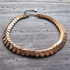 Copper Choker Necklace Modernist Jewelry 1950s Rebajes Snake Necklace Mid Century Jewelry by ultravioletvintage on Etsy #rebajes #coppernecklace #choker #1950s #modernist #midcentury #50s