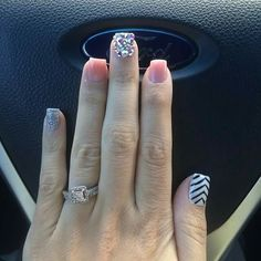 Gelish Nails, Jamberry Nails, Nail Manicure, Toe Nails, Opi, Sparkle Nails, Glam Nails, Pink Nails, Acrylic Set