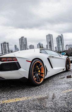 White Lamborghini Aventador #CarFlash