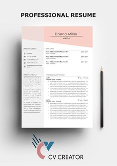 The modern resume template is designed to showcase your skills and experience in a professional and effective way. The design is optimized for a compact resume that is informative, visually attractive and easy to navigate. Simple Resume Template, Cv Template, Resume Templates, Design Templates, Great Resumes, Resume Examples, Cover Letter Template, Letter Templates, Resume Format