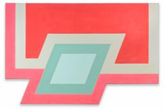 Frank Stella (American, b. 1936) Conway I. Fluorescent alkyd and epoxy paints on canvas. Toledo Museum of Art. Purchased with funds from the Libbey Endowment, gift of Edward Drummond Libbey by exchange, 1012.99 © Frank Stella/Artists Rights Society (ARS), New York.