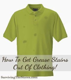 How to get oil and grease stains out of clothes.