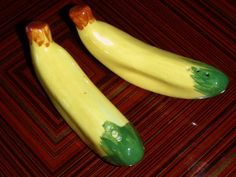 Vintage Banana Salt and Pepper Shakers by stateofshop on Etsy, $4.99