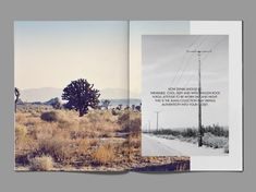 Magazine spread inspiration (nature background with photo of vada water on top?)
