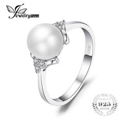 It doesn't get any better than this!   JewelryPalace Lux...  http://www.whiteatticllc.com/products/jewelrypalace-luxury-8mm-8mm-freshwater-cultured-pearl-engagement-and-wedding-ring-925-sterling-silver-fine-jewelry-for-women?utm_campaign=social_autopilot&utm_source=pin&utm_medium=pin