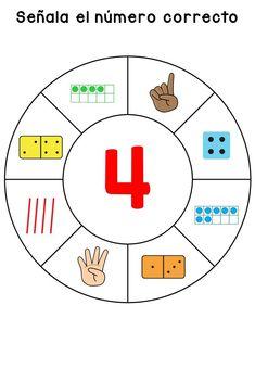 Matemáticas divertidas y manipulativas la rueda para el Reconocimiento de números -Orientacion Andujar Act Math, Math 2, Preschool Worksheets, Preschool Activities, Numbers Kindergarten, Math Numbers, Infant Activities, Book Activities, Sudoku