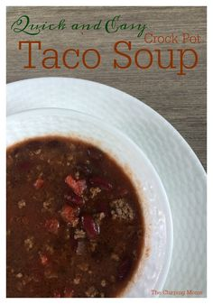 Slow Cooker Taco Soup || The Chirping Moms