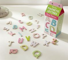 "Wooden Magnet Letters ""Sweet Patterns"" #pbkids"