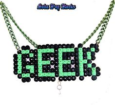 Don't Label Me Geek Necklace by SodaPopRock on Etsy, $9.00