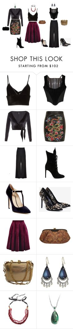 """""""Holiday 2016"""" by marisolvera on Polyvore featuring Alexander Wang, Vivienne Westwood, Lisa Marie Fernandez, Topshop, Alice + Olivia, Kendall + Kylie, Charles David, Privileged, Maje and St. John"""