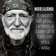 Haha, damn right! Willie Nelson knows exactly what he's talking about, and I couldn't agree more!  Love him!