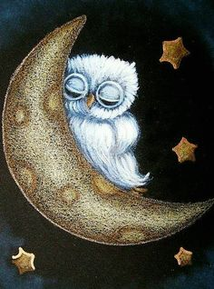 "Good Night!   (no words - ""Owl and the Moon"")"
