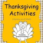 Thanksgiving Activities  will excite your students! Celebrate Thanksgiving with this pack of activities to keep your students engaged and motivated...