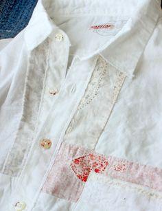KAPITAL KOUNTRY white shirts ホワイトOXハーベストリメイクカトマンズシャツ A-2