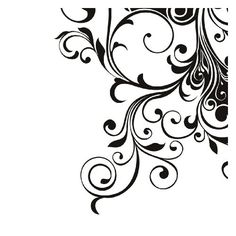 Black And White Corner Art Designs Black Wall Art, White Art, Headboard Decal, Stencil Wood, Stenciling, Wall Sticker Design, Ceiling Art, Free Stencils, Art Themes