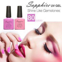 Sapphire Gel Polish Varnish UV LED Gorgeous 80 Color  UV Gel LED Lamp Nail Art Design Hot Sale Nail Gel Lacquer
