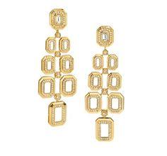 Ivanka Trump earrings in 18k yellow gold with diamonds
