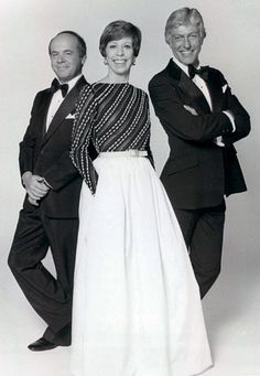 Tim Conway, Carol Burnett and Dick Van Dyke--the cast members of The Carol Burnett Show