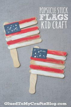 These patriotic crafts are perfect for your young child to make for 4th of July, Memorial day, Flag day or your summer BBQ.