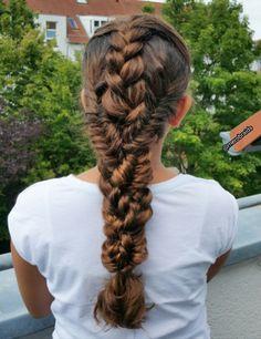 Mixed braids combo (french and fishtail braids )