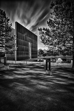 This is the 9:03 a.m. monument at the Oklahoma City National Memorial. Photo by Michael Noirot.