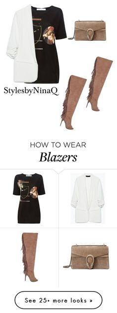 """""""Untitled #438"""" by nina-quaranta on Polyvore featuring Givenchy, Zara, Privileged and Gucci"""