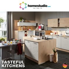 Where you cook dictates how you cook. Our kitchen solutions offer the perfect settings for a perfect meal. Choose a design in a finish you like. Our products also come with life time maintenance and a 5 year warranty. You can get a free design service. Leaves a good taste right?  Check out the entire range at http://homestudio.com/modular-kitchen.html #kitchensolutions #furniture #homestudio