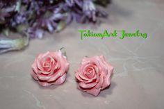Orecchini le Rose rose. di TatianArtJewelry su Etsy